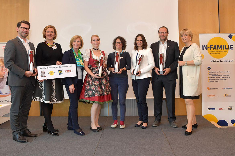 Auszeichnung Familienfreundlichster Betrieb in NÖ ©Amt der NÖ Landesregierung, LAD1/Pressedienst-Öffentlichkeitsarbeit