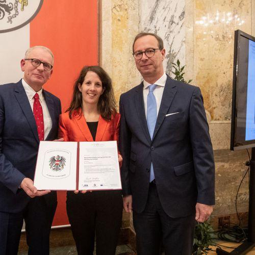 Verleihung Qualitätslabel für Lehrlingsmobilität Moorheilbad Harbach