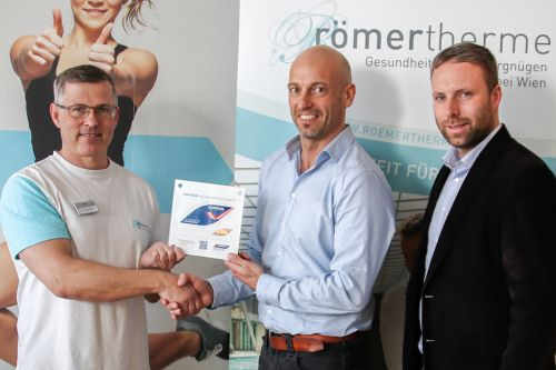 Römertherme Baden mit Anti-Doping-Gütesiegel geehrt