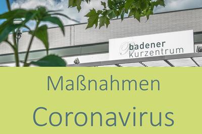 Maßnahmen Coronavirus