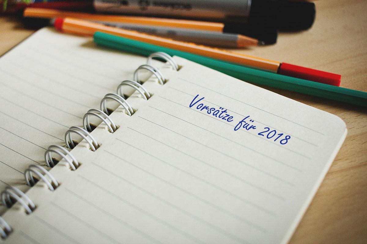 Neujahrsvorsätze notieren