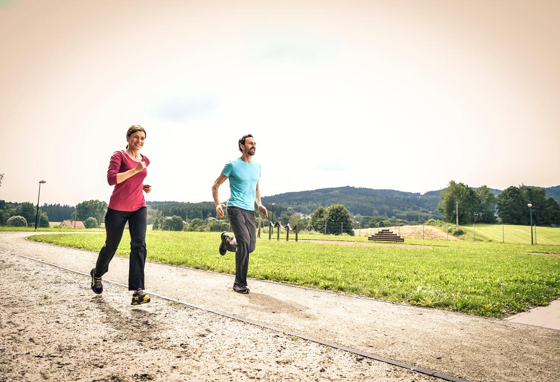 Routinemäßiges Laufen verlieren Gewicht